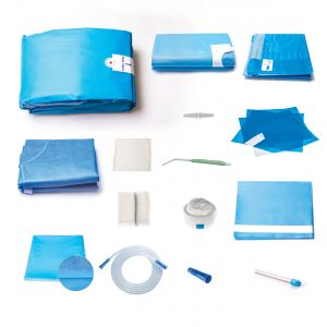 dental procedure pack creates an aseptic barrier during oral surgery