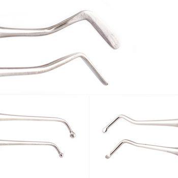 single use Flat Plastic, Ball Burnisher, Medium Spoon Excavator two piece dental restorative instrument kit