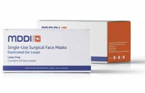 Surgical Earloop face mask box of 50